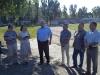 Першим об'єктом робочої наради став стадіон Авангард, де присутні обговорили заходи щодо впорядкування території стадіону та визначили першочергові завдання для начала робіт.