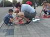 Також, у рамках міської акції було відновлено візерунок вишиванки на центральній площі міста.