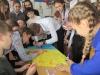 Учні Бахмутської школи №2 зустріли волонтерів Потягу Єднання «Труханівська Січ»